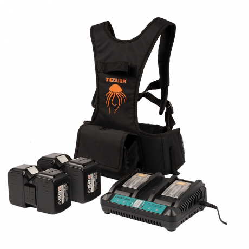 Kit arnés y pack 4 baterías + cargador MEDUSA